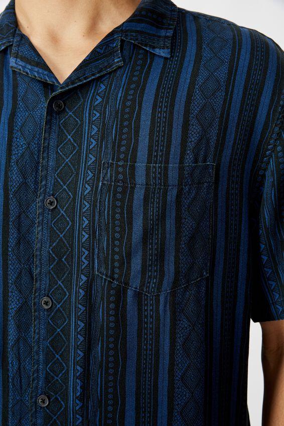 91 Short Sleeve Shirt, TONAL TRIBAL