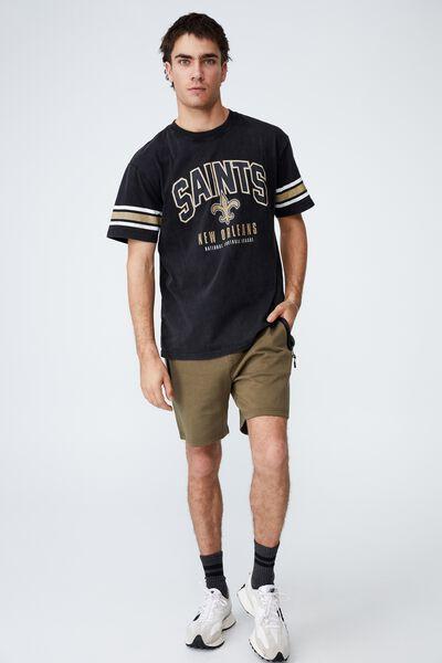Active Collab Oversized T-Shirt, LCN NFL BLACK/NEW ORLEANS SAINTS