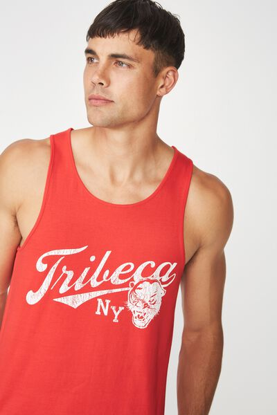 Tbar Anchor Tank, STRONG RED/TRIBECA NY
