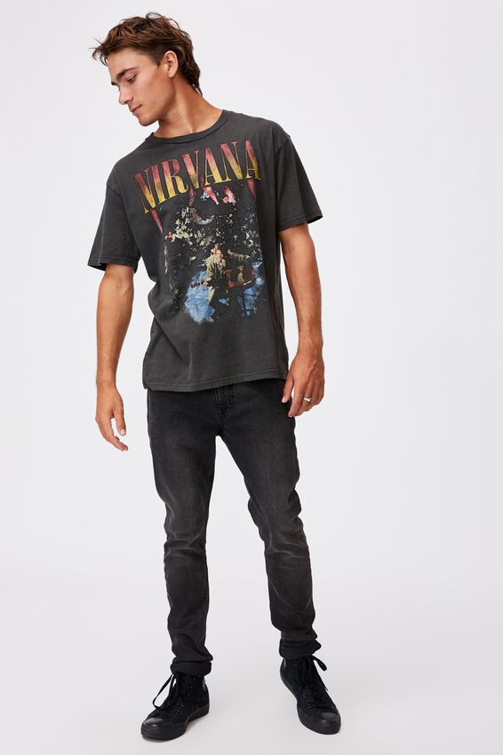 Special Edition T-Shirt, LCN LN WASHED BLACK/NIRVANA - LIVE IN NEW YOR