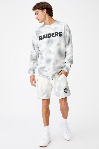 Active Nfl Fleece Short, LCN NFL TIE STEEL TIE DYE/RAIDERS