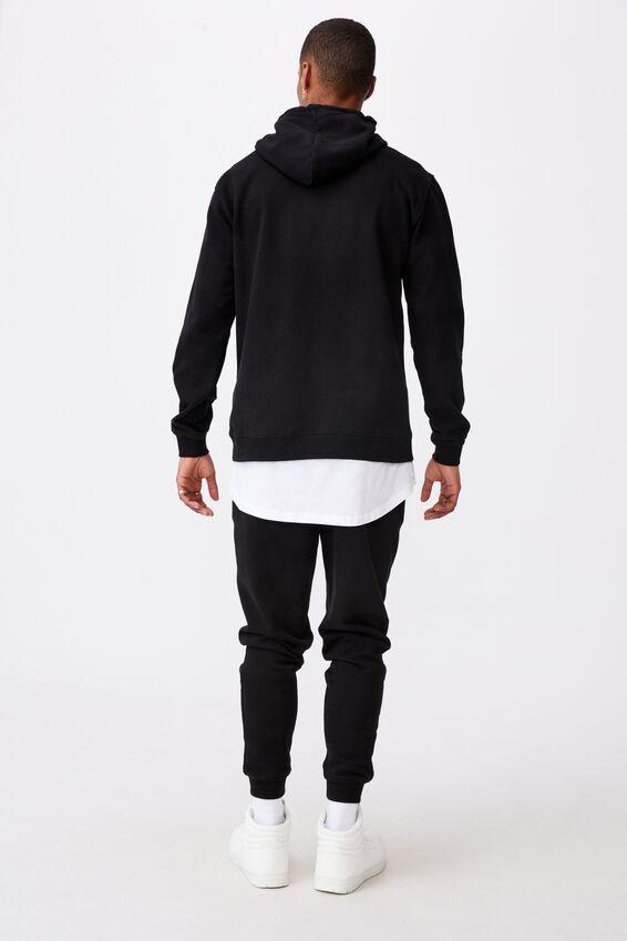 Collab Fleece Pullover, LCN WAS BLACK/FRIENDS LOGO