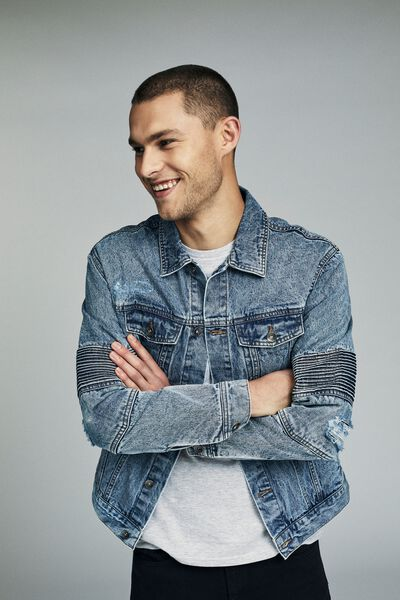Moto Rodeo Jacket, QUARRY BLUE