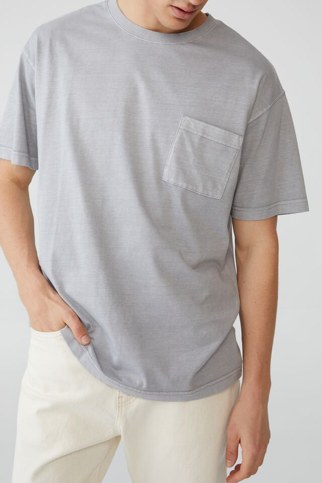 Loose Fit T-Shirt, OVERCAST GREY