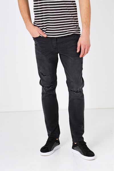 Tapered Leg Jean, KNIGHT BLUE DESTROYER