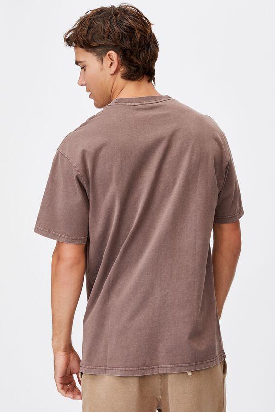 Washed Pocket T-Shirt, WASHED CHOCOLATE