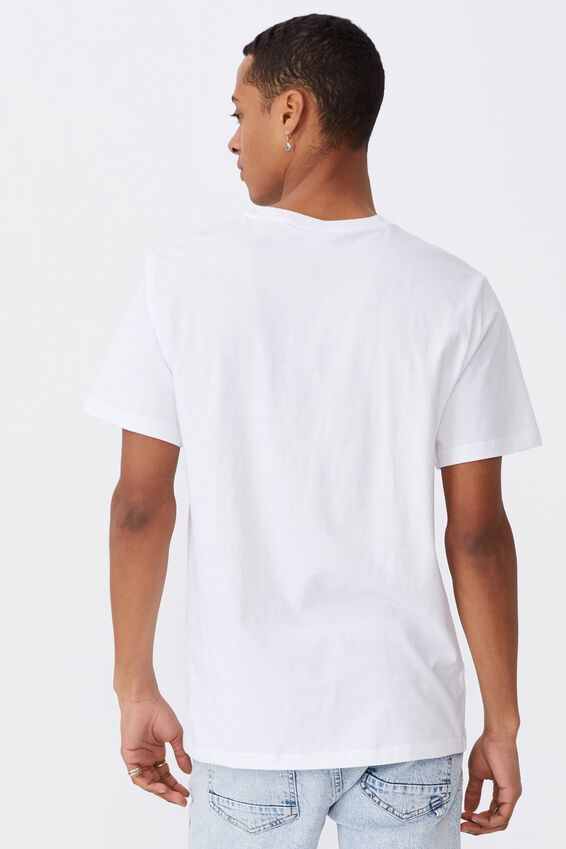 Tbar Text T-Shirt, WHITE/STRANGE PARADISE
