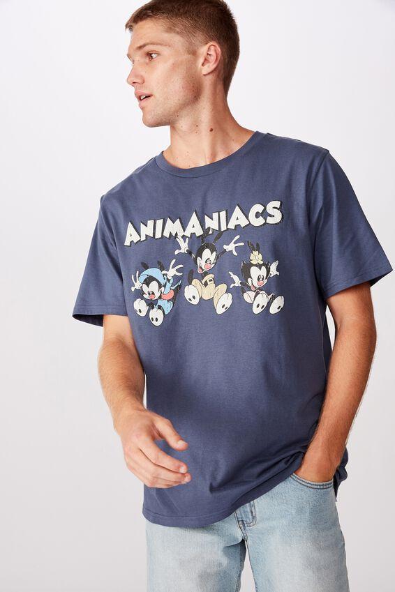 Tbar Collab Character T-Shirt, LCN WB SK8 MOONLIGHT BLUE/ANIMANIACS - JUMP