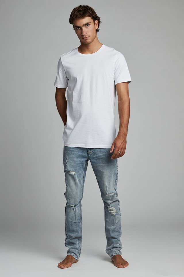 Slim Fit Jean, Beckley Blue Rips