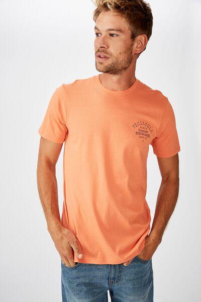Tbar Moto T-Shirt, WASHED ORANGE/PENSACOLA