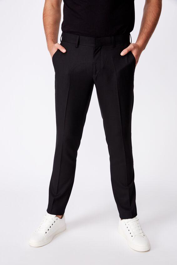 Slim Stretch Suit Pant, TRUE BLACK