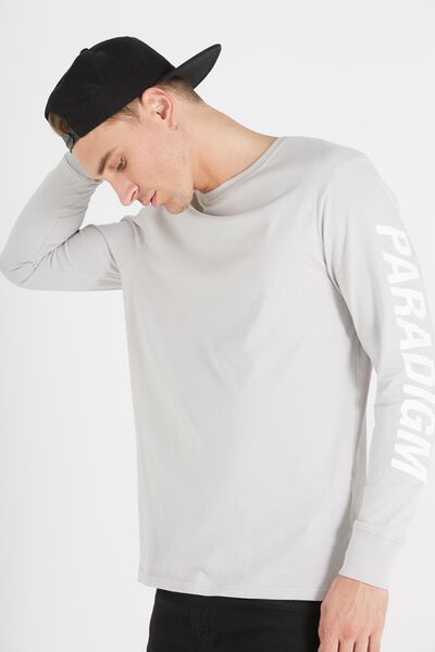 Tbar Long Sleeve, SMOKE/PARADIGM SLANT