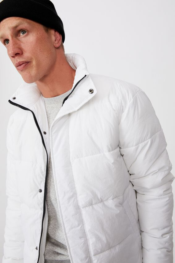 Essential Recycled Puffer, WHITE