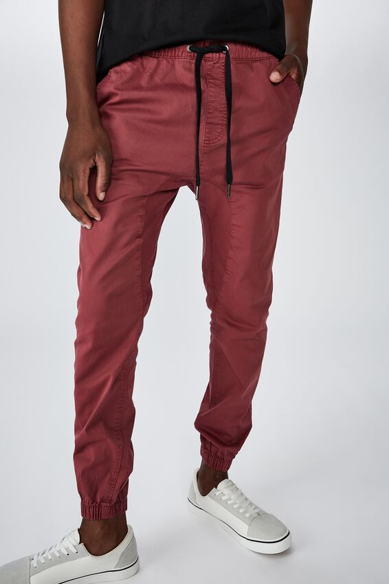 Drake Cuffed Pant, WASHED RED