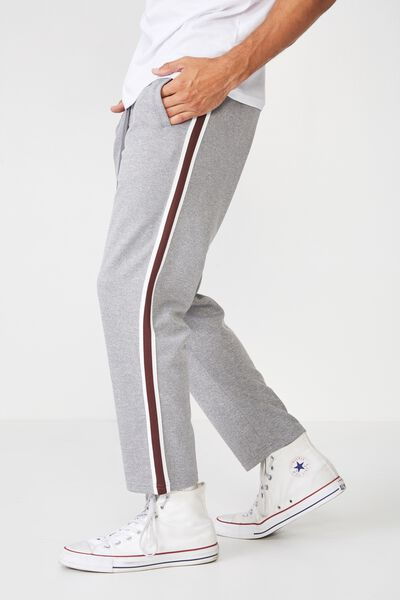 Slim Side Stripe Track Pant, GREY MARLE