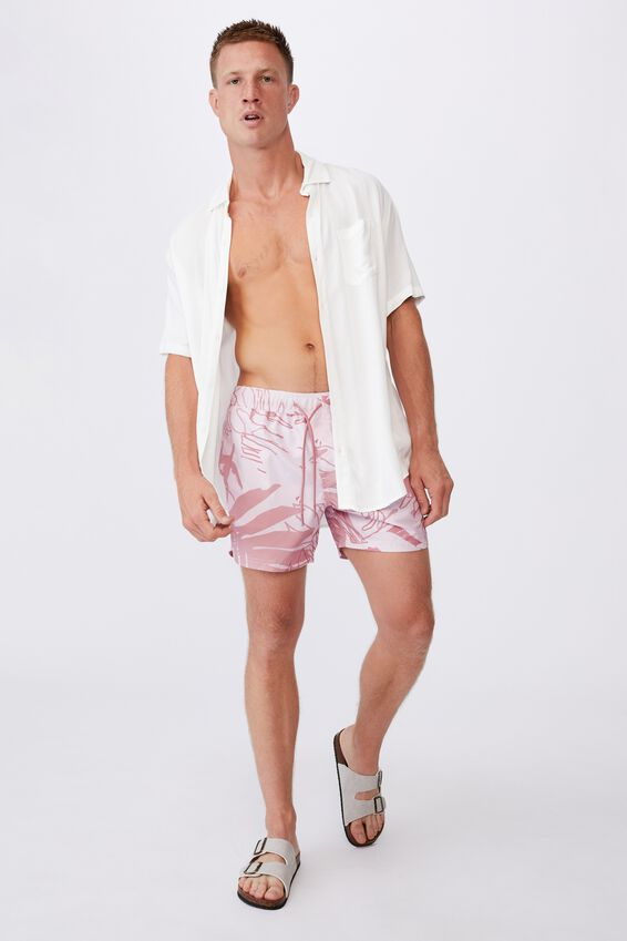 Swim Short, WASHED RED SPICED FLORAL