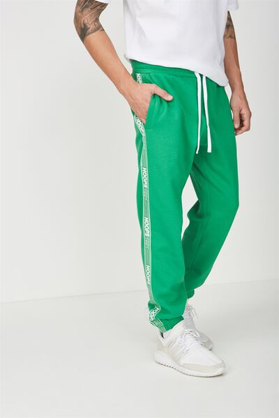 Classic Track Jogger, KELLY GREEN/HOOPS
