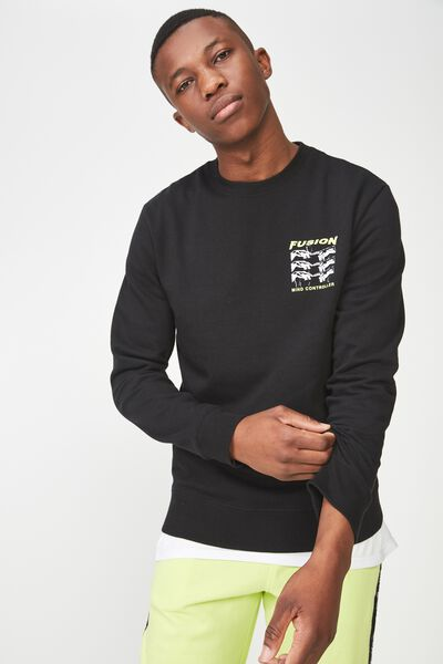 Crew Fleece 2, BLACK/FUSION