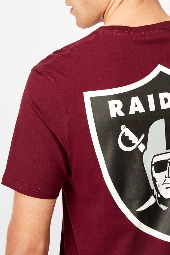 Tbar Collab Pop Culture T-Shirt, LCN NFL PORT WINE/RAIDERS SHIELD