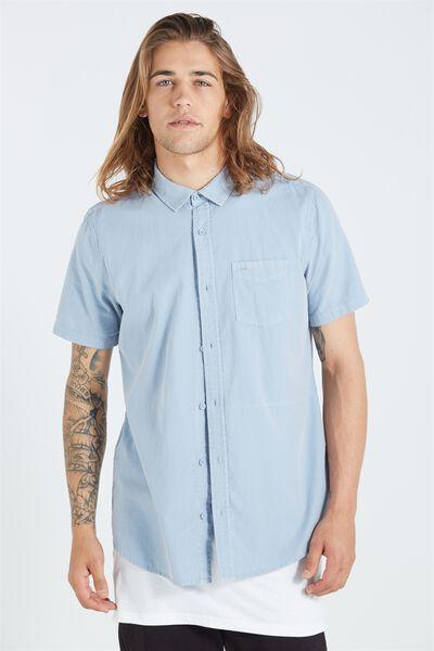 Sunset Short Sleeve Shirt, WASHED LIGHT BLUE