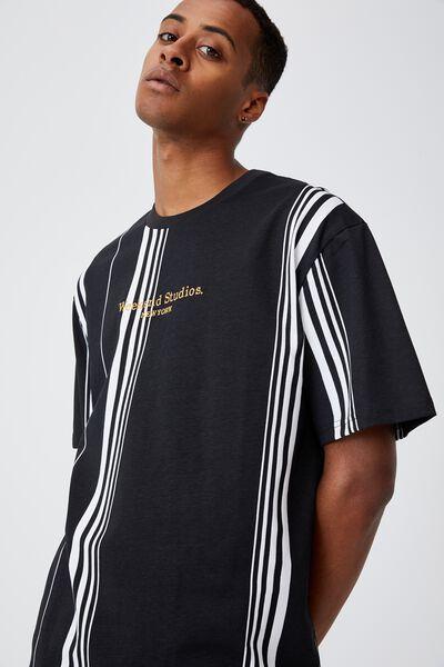 Downtown T-Shirt, BLACK TECH STRIPE