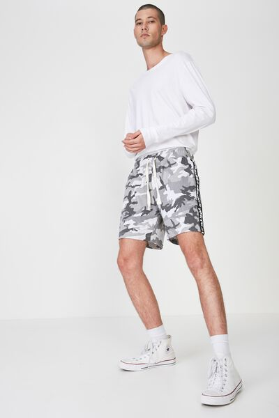 Volley Jogger Short, SNOW CAMO GREY/BLACK 5 CITIES