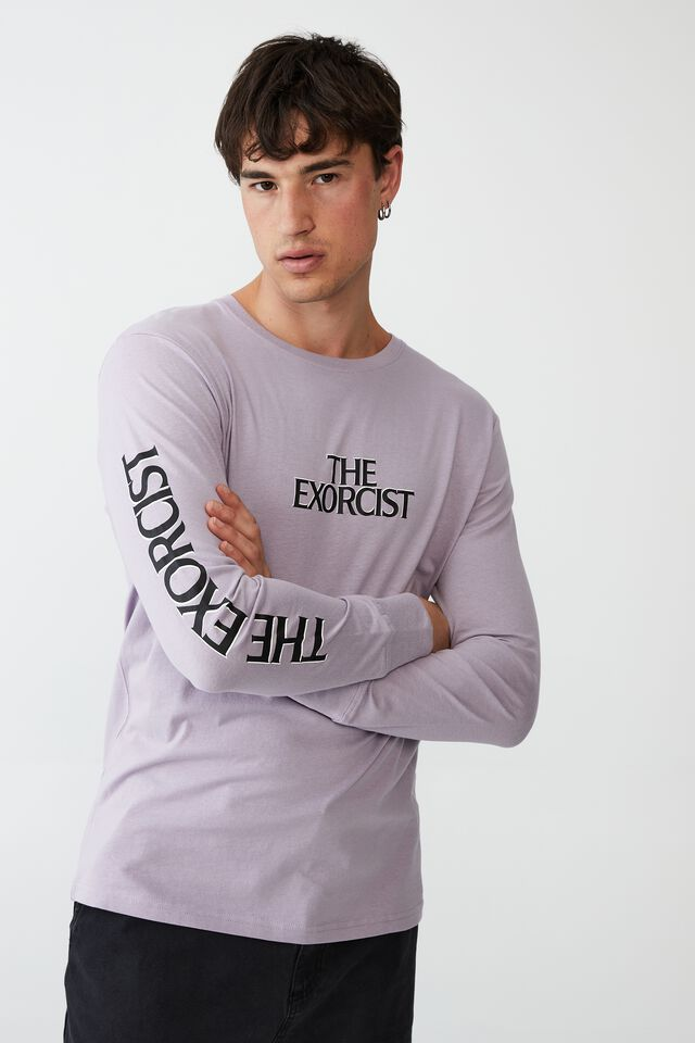 Tbar Collab Long Sleeve T-Shirt, LCN WB HAPPY LAVENDAR THE EXORCIST - LEVITATE