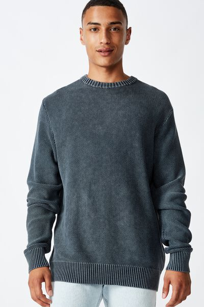 Crew Knit, WASHED NAVY