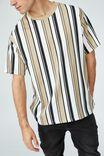 Downtown T-Shirt, GRAVEL STONE CLEAN STRIPE