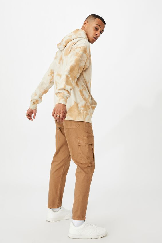 Drop Shoulder Pullover Fleece, SANDY DESERT TIE DYE