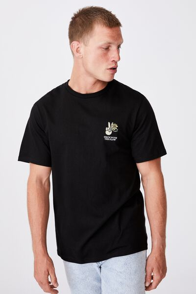 Tbar Art T-Shirt, BLACK/GROW WITH THE FLOW