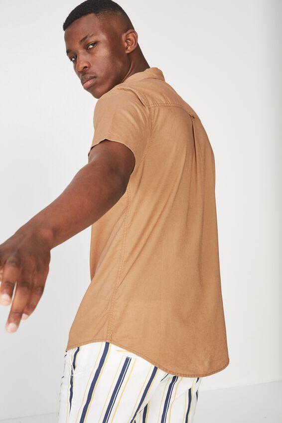 Vintage Prep Short Sleeve Shirt, CAMEL