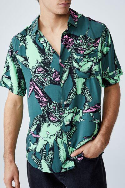 Collab Short Sleeve Shirt, LCN WB FOREST - GREMLINS