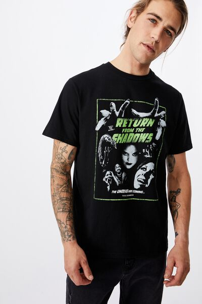 Tbar Art T-Shirt, BLACK/RETURN FROM THE SHADOWS