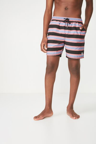 Hoff Short, BLACK/PINK.PURPLE/STRIPE