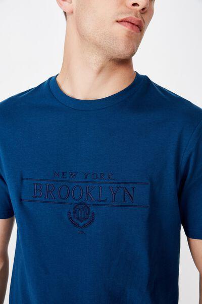 Tbar Urban T-Shirt, CORAL BLUE/BROOKLYN US