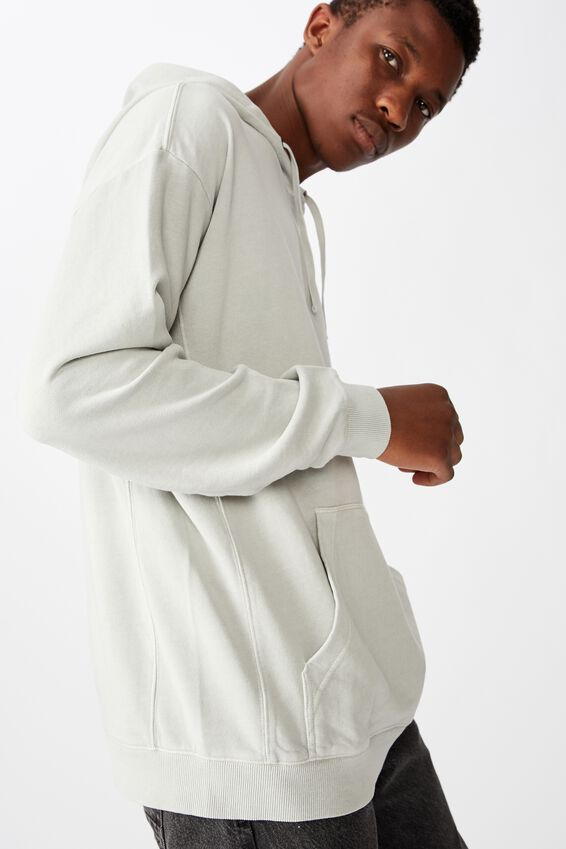 Pigment Dyed Oversized Pullover, SMOKE