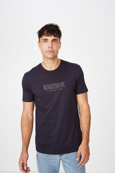Tbar Urban T-Shirt, INK NAVY/MANHATTAN NYC