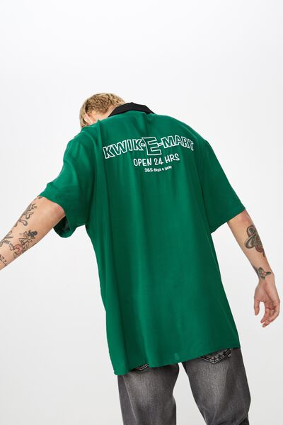 Collaboration Short Sleeve Shirt, SIMPSONS KWIK E MART