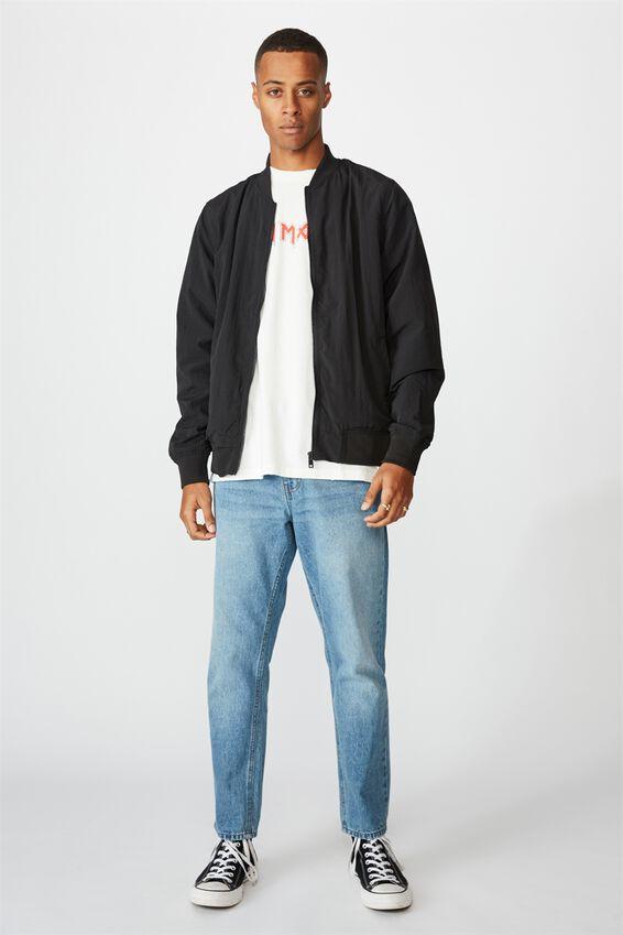Resort Bomber Jacket, TEXTURED BLACK