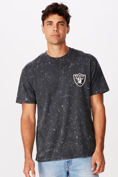 Special Edition Tee, LCN NFL BLACK/OAKLAND RAIDERS - SNOW WASH