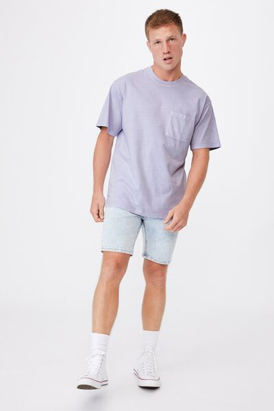 Washed Pocket T-Shirt, PURPLE DUST
