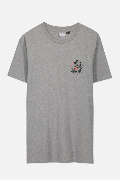 Tbar Collaboration Tee, LC GREY MARLE/MICKEY TWO BIRDS
