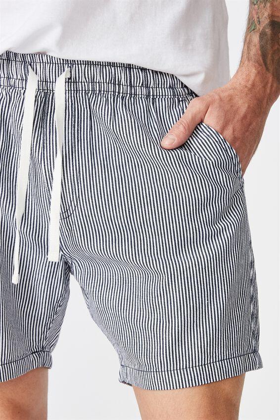Easy Short, NAVY/WHITE YD STRIPE