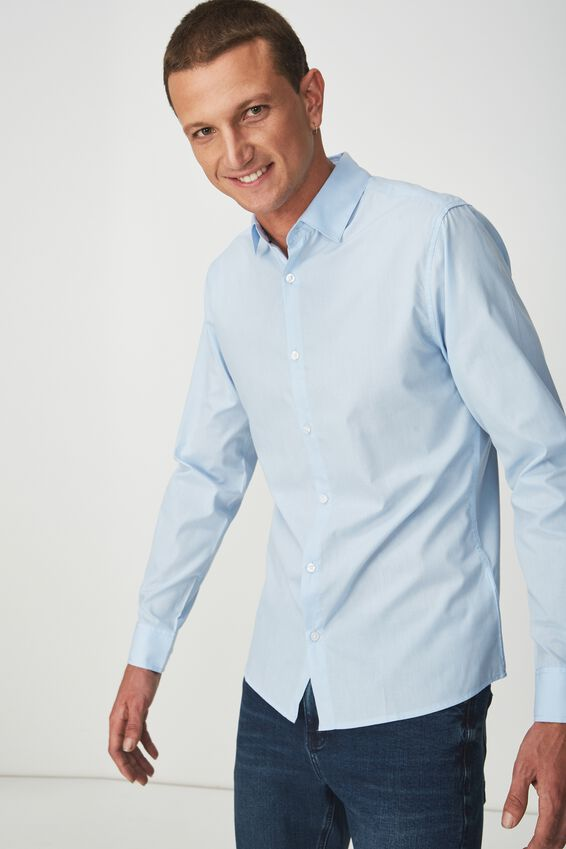 Slim Smart Shirt, SKY BLUE