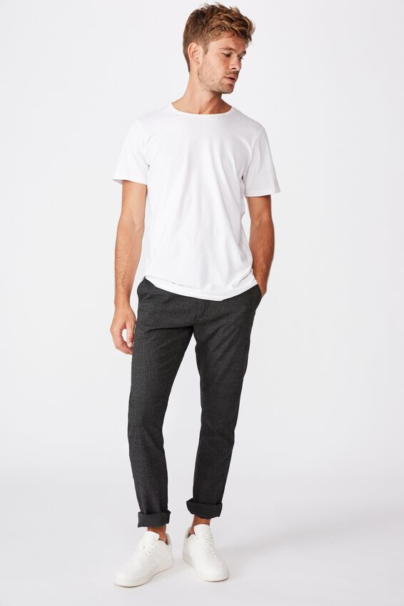 Skinny Stretch Chino, CHARCOAL PRINCE OF WALES