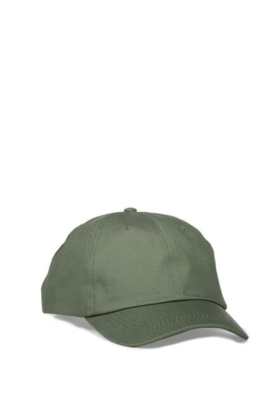 Strap Back Dad Hat, SEE ALL/DUSTY GREEN