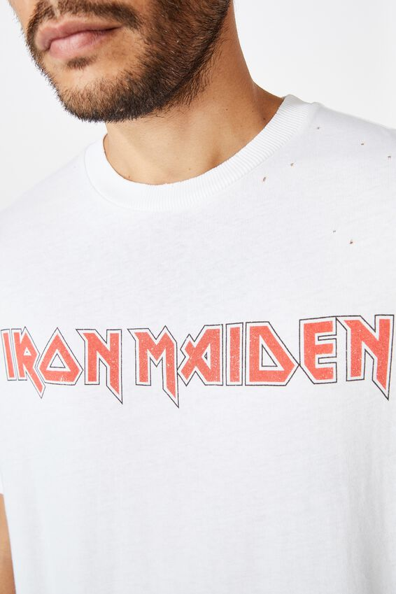 Special Edition T-Shirt, LCN IRM VINTAGE WHITE/IRON MAIDEN-NUMBER OF T