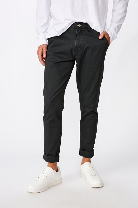 Skinny Stretch Chino, DEEP GREEN