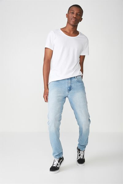 Tapered Leg Jean, WASHED OUT BLUE